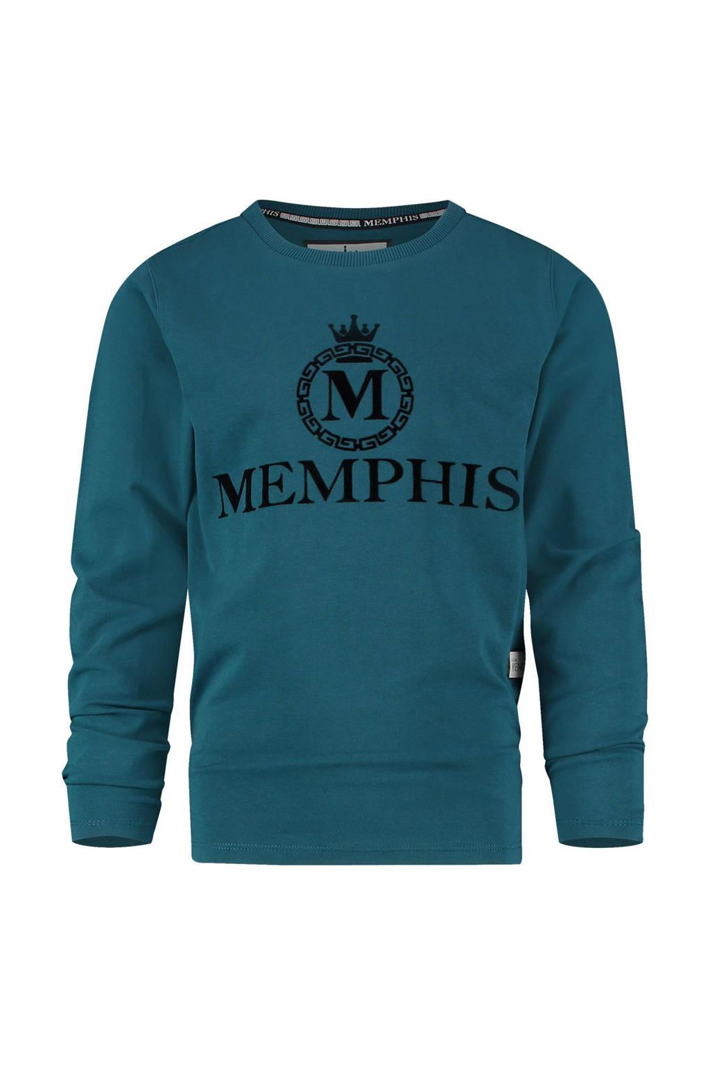 Vingino Memphis Depay longsleeve Jesper met logo blauw, Blauw