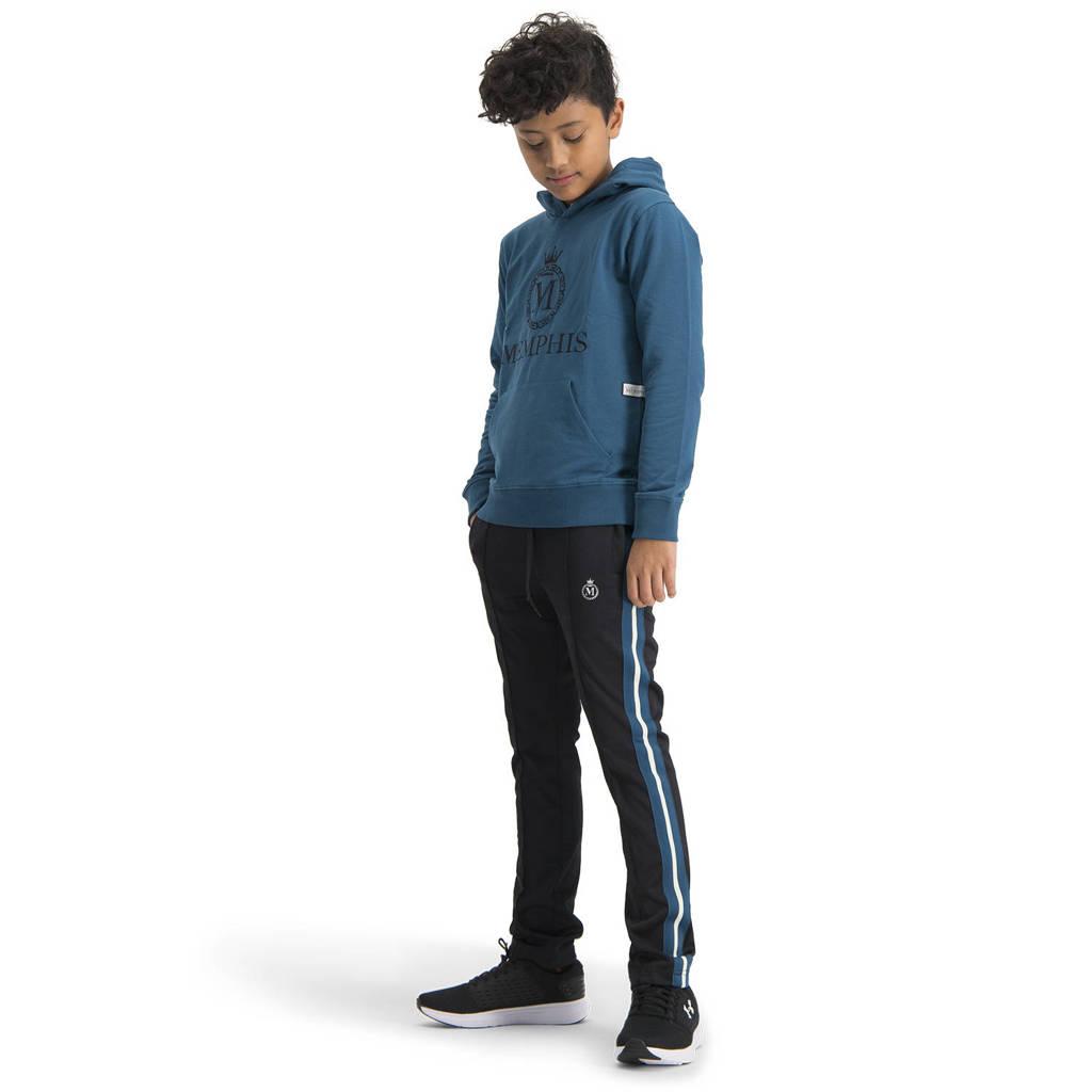 Vingino Memphis Depay hoodie Nachler met logo blauw, Blauw