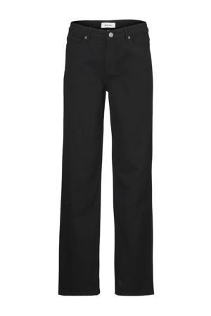 high waist straight fit jeans Elton zwart