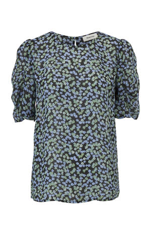 top Earl met all over print blauw