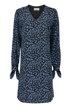 gebloemde blousejurk Fidel blauw