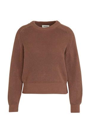 gebreide trui Etta met textuur oudroze