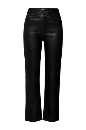 coated cropped regular fit broek Maresa zwart