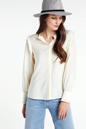 blouse Hilde met ruches wit