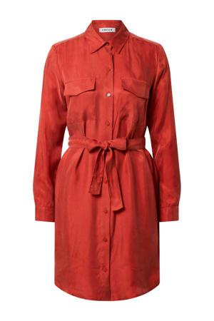 blousejurk Farha met ceintuur rood