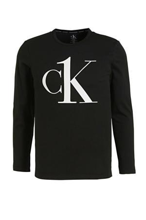 T-shirt met logoprint zwart