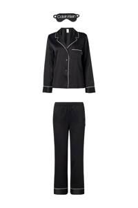 CALVIN KLEIN UNDERWEAR pyjama met slaapmasker zwart, Zwart