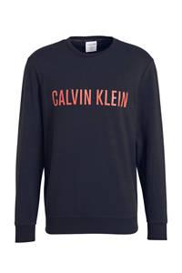 CALVIN KLEIN UNDERWEAR sweater met logoprint zwart, Zwart