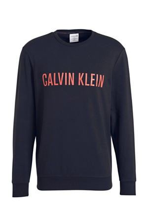 sweater met logoprint zwart