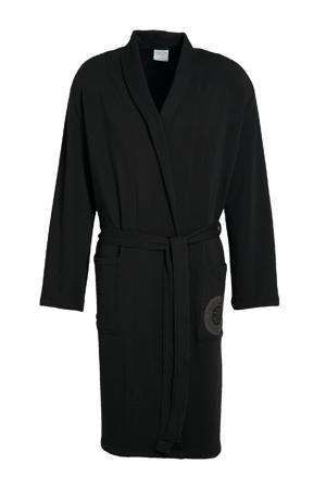 jersey badjas zwart