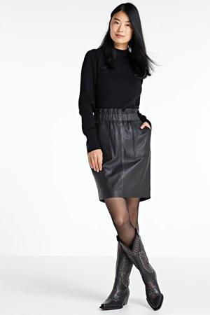 leren rok Parisienne Skirt black