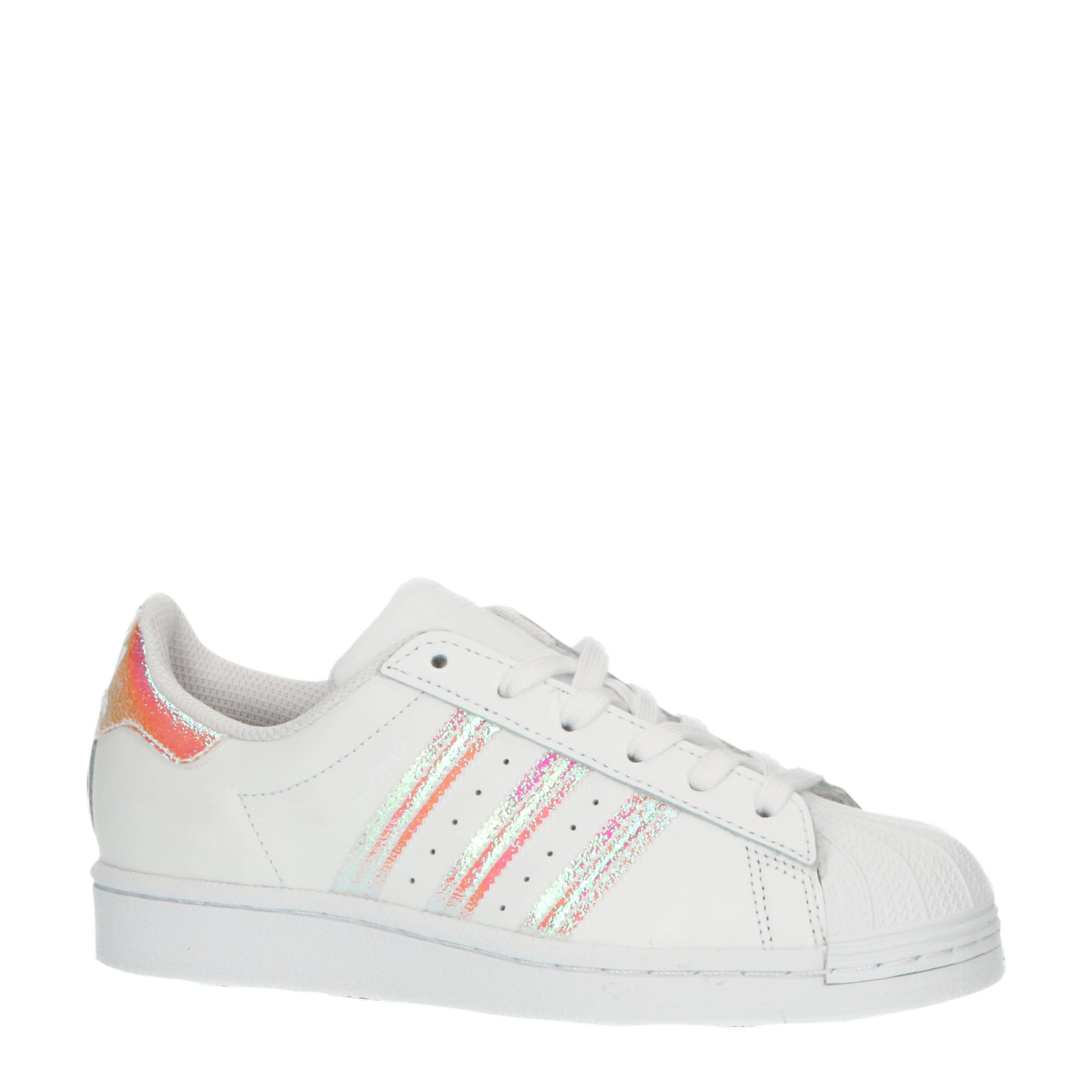 adidas Originals Superstar J sneakers witmetallic zilver