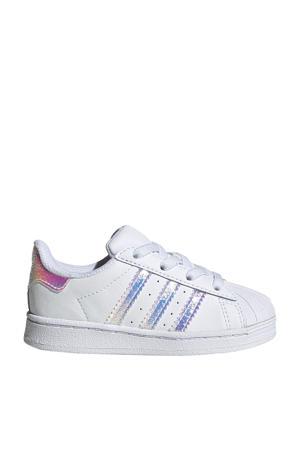 Superstar EL I sneakers wit/zilver metallic