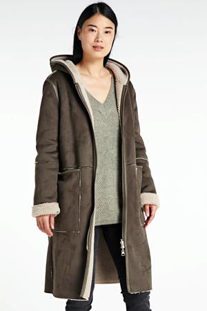 coat Adelyn beige/groen