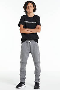 G-Star RAW T-shirt met logo zwart/wit, Zwart