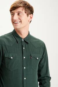 Levi's slim fit overhemd donkergroen, Donkergroen