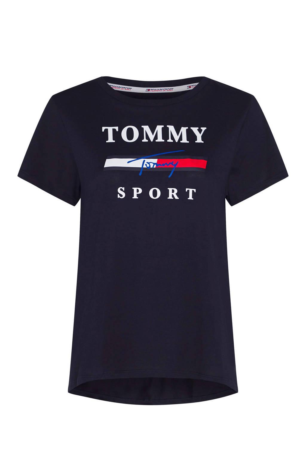 Tommy Hilfiger Sport sport T-shirt donkerblauw, Donkerblauw