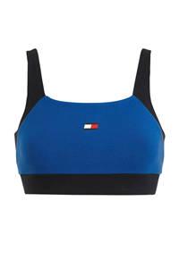 Tommy Hilfiger Sport level 1 sportbh zwart/blauw, Zwart/blauw