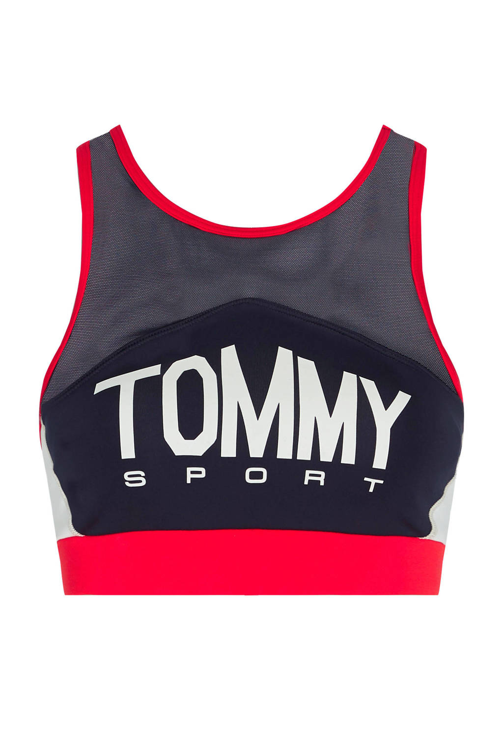 Tommy Hilfiger Sport level 3 sportbh zwart/rood, Zwart/rood
