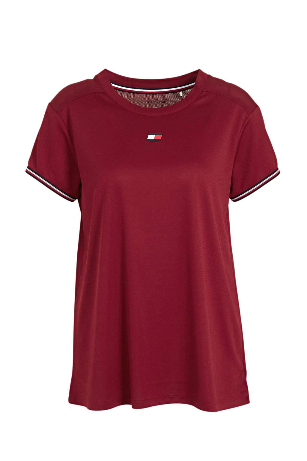 Tommy Hilfiger Sport sport T-shirt rood, Rood