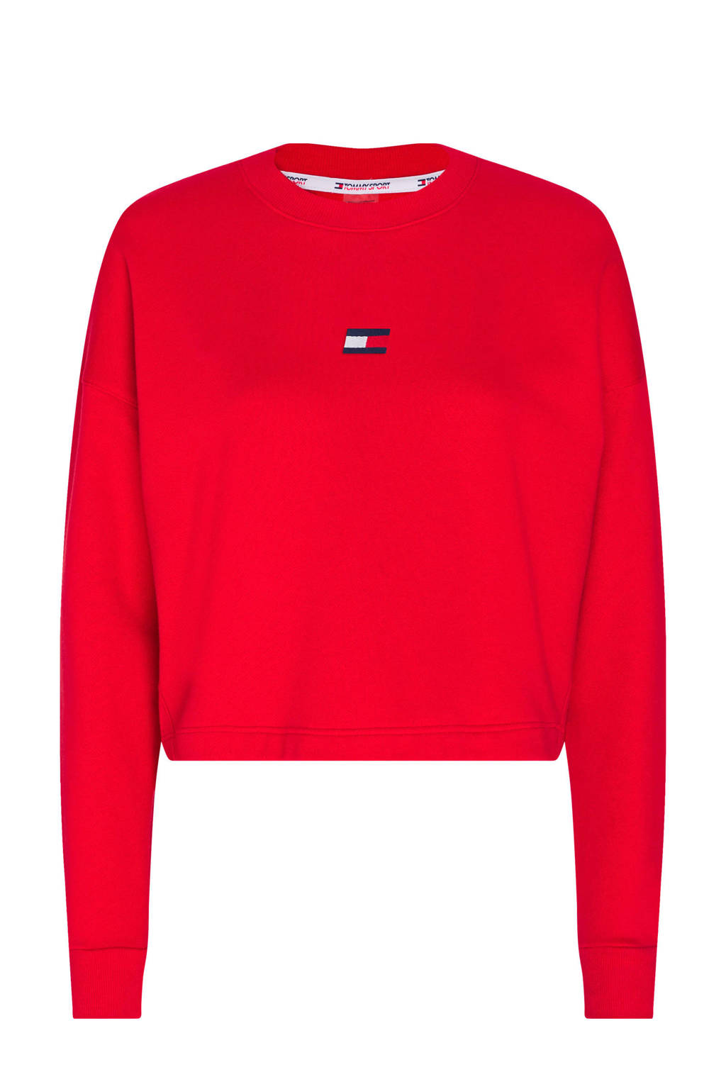 Tommy Hilfiger Sport cropped sportsweater rood, Rood