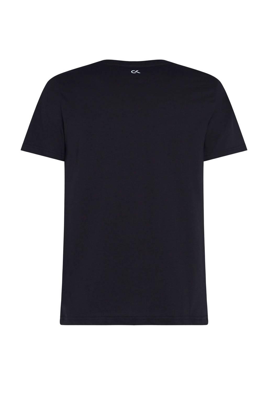 CALVIN KLEIN PERFORMANCE   sport T-shirt zwart/wit, Zwart