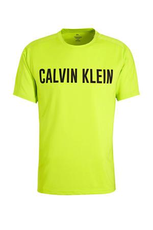 sport T-shirt limegroen