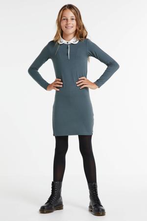 jurk met kraagje grijs