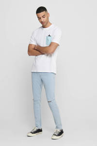 ONLY & SONS T-shirt met printopdruk wit, Wit