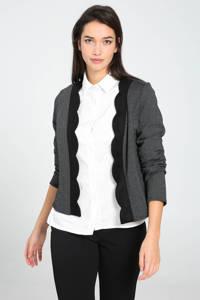 Cassis jasje met jacquard antraciet/zwart, Antraciet/zwart
