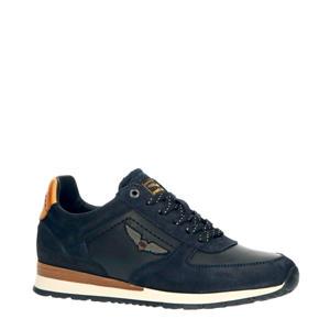Lockplate  suède sneakers donkerblauw