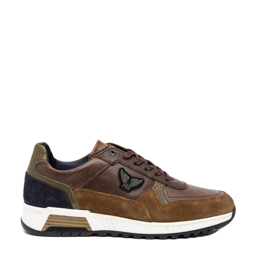 PME Legend Valkman  leren sneakers bruin, Bruin