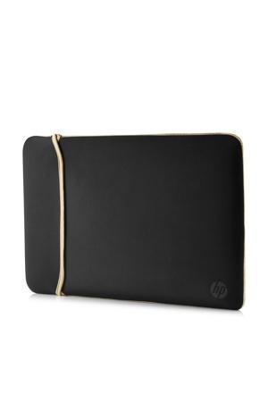 Reversible sleeve 15.6 inch (zwart/goud)