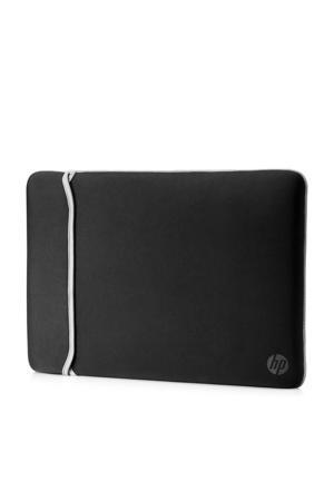 Reversible Sleeve 15.6 inch laptopsleeve (zwart/zilver)