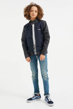 zomerjas donkerblauw/zwart