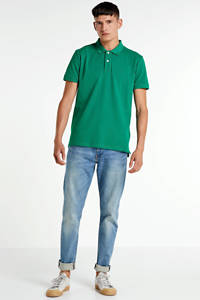 ESPRIT Men Casual slim fit polo groen, Groen