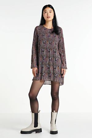 semi-transparante jurk Marisol met paisleyprint multicolor