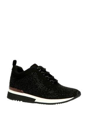 1905751  sneakers met strass steentjes zwart