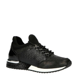 1900356  sneakers crocoprint zwart