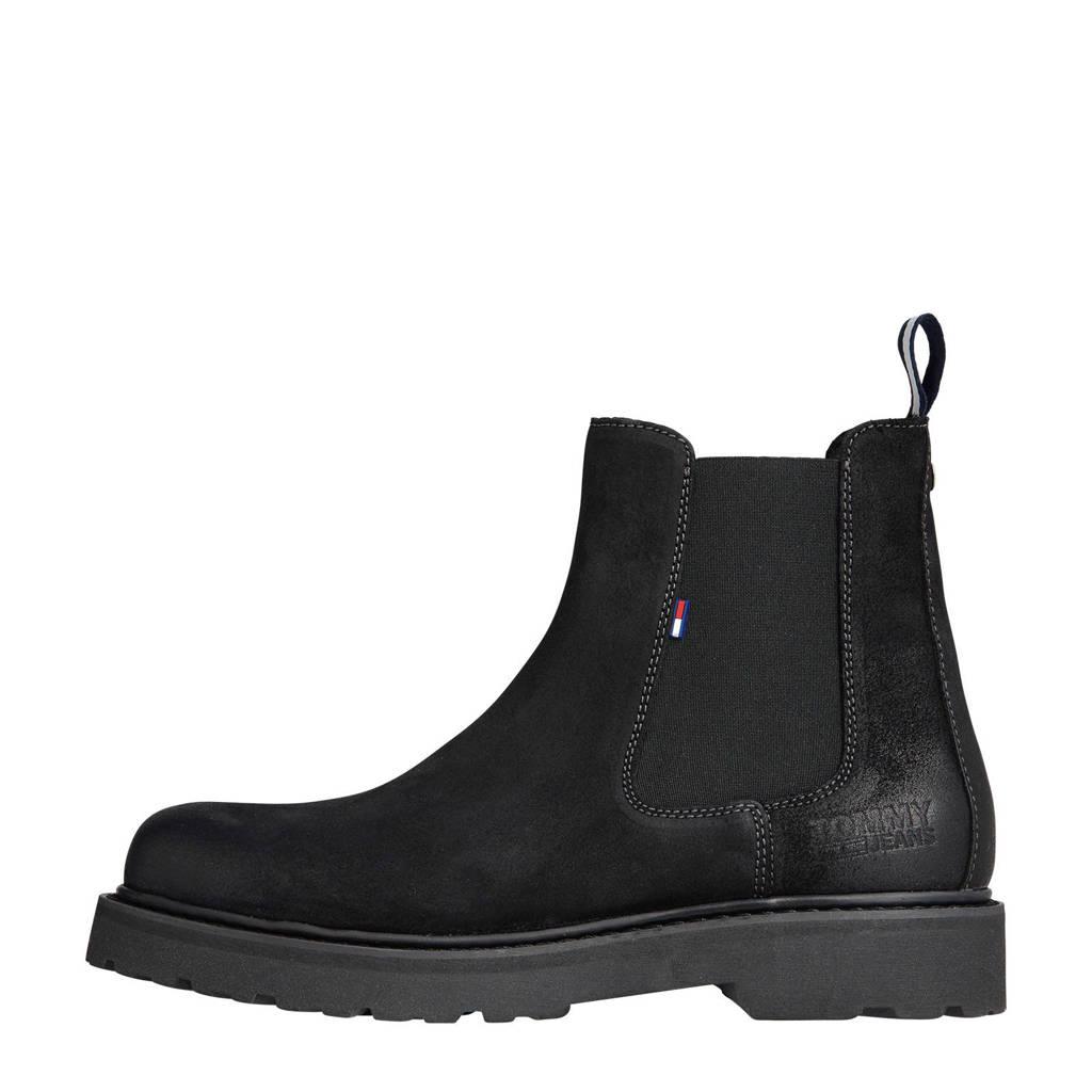 Tommy Hilfiger   suède chelsea boots zwart, Zwart
