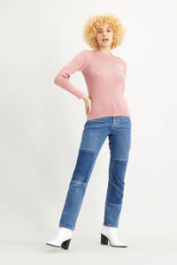 Levi's ribgebreide trui met logo roze, Roze