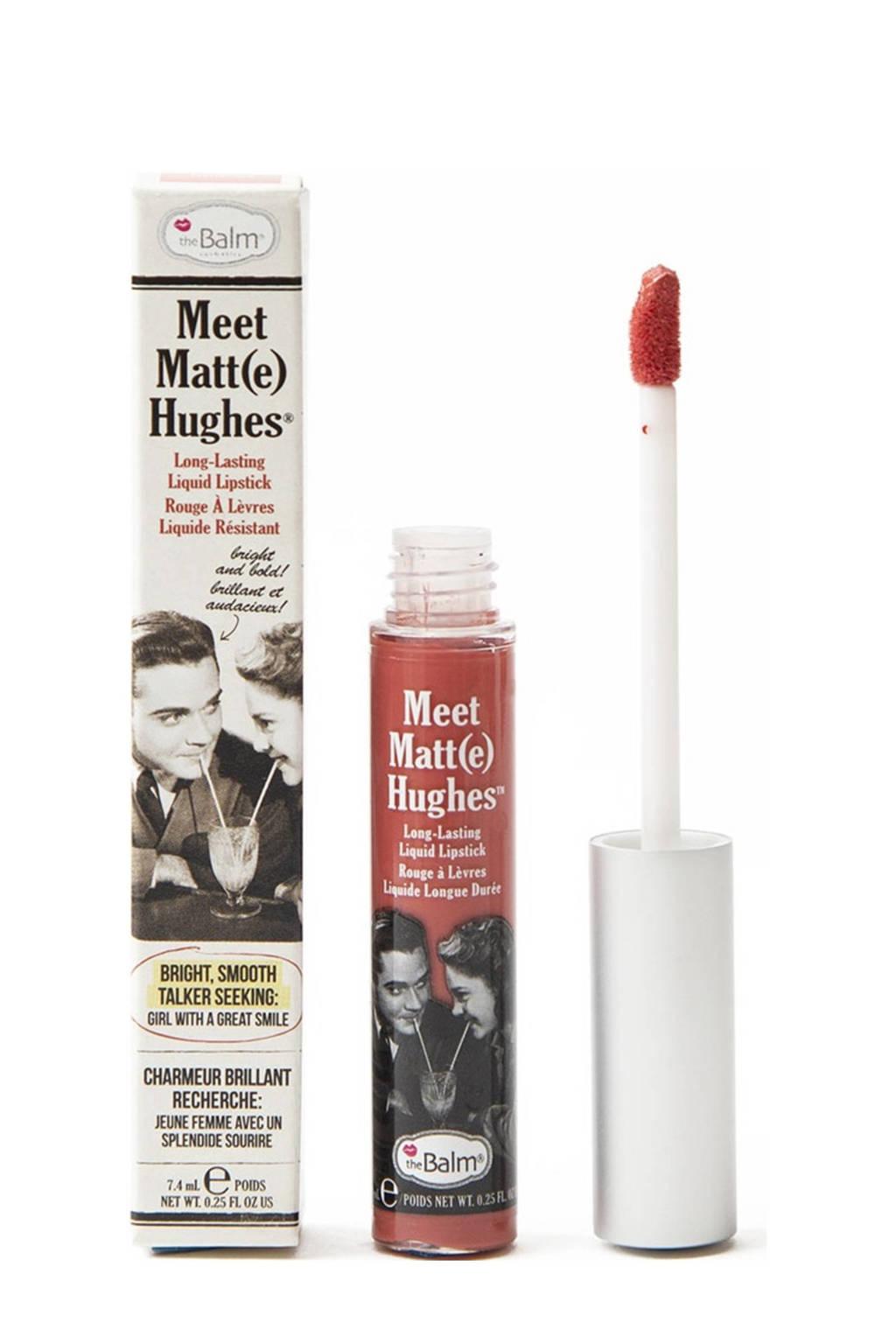 The Balm Meet Matte Hughes lippenstift - Honest, WARM CORAL