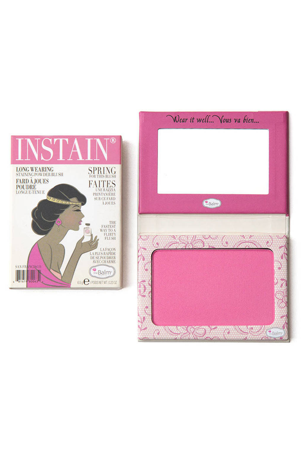 The Balm InStain blush - Lace, Bright Pink
