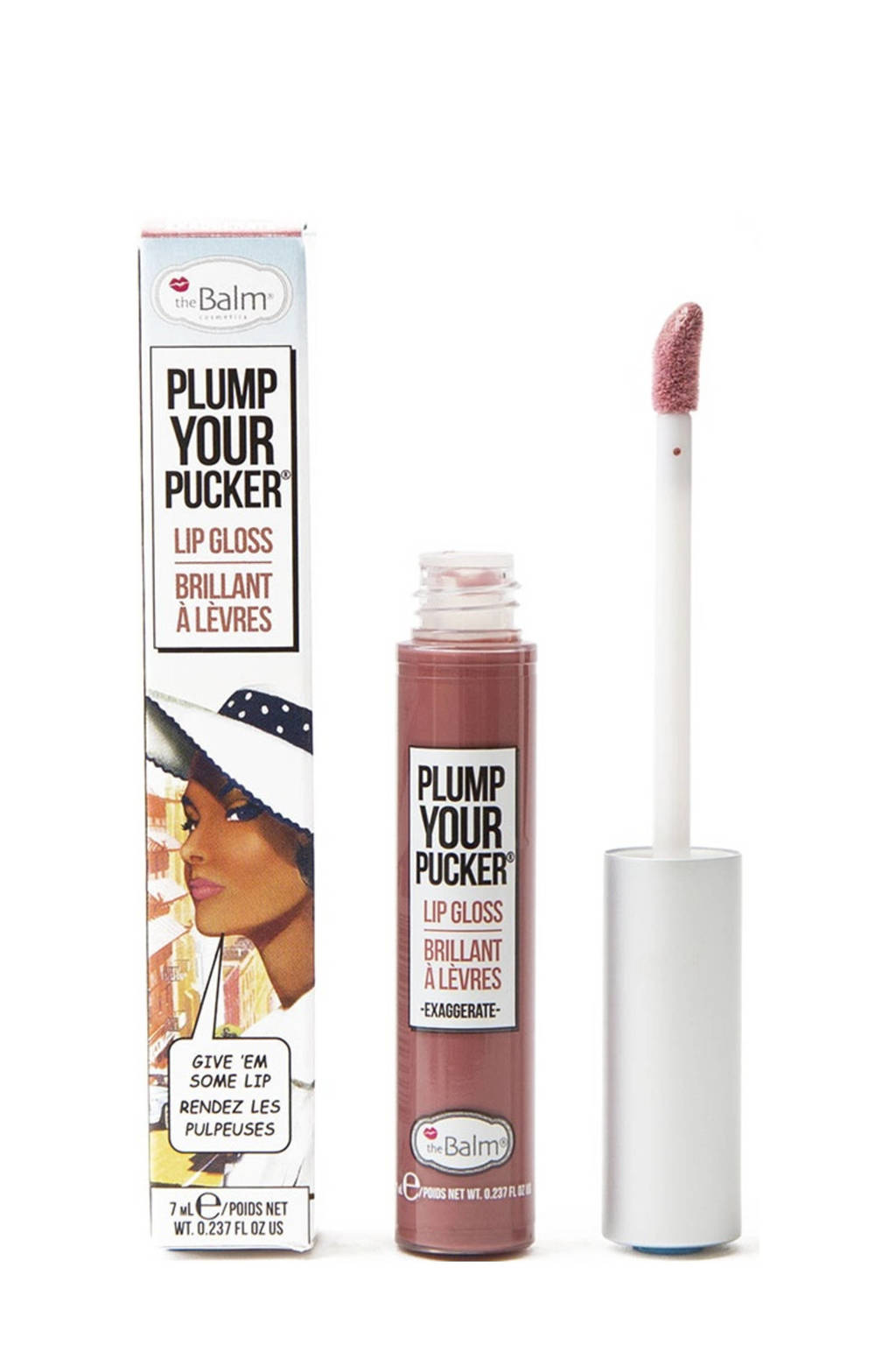 The Balm Plump Your Pucker lipgloss Exaggerate, Pink