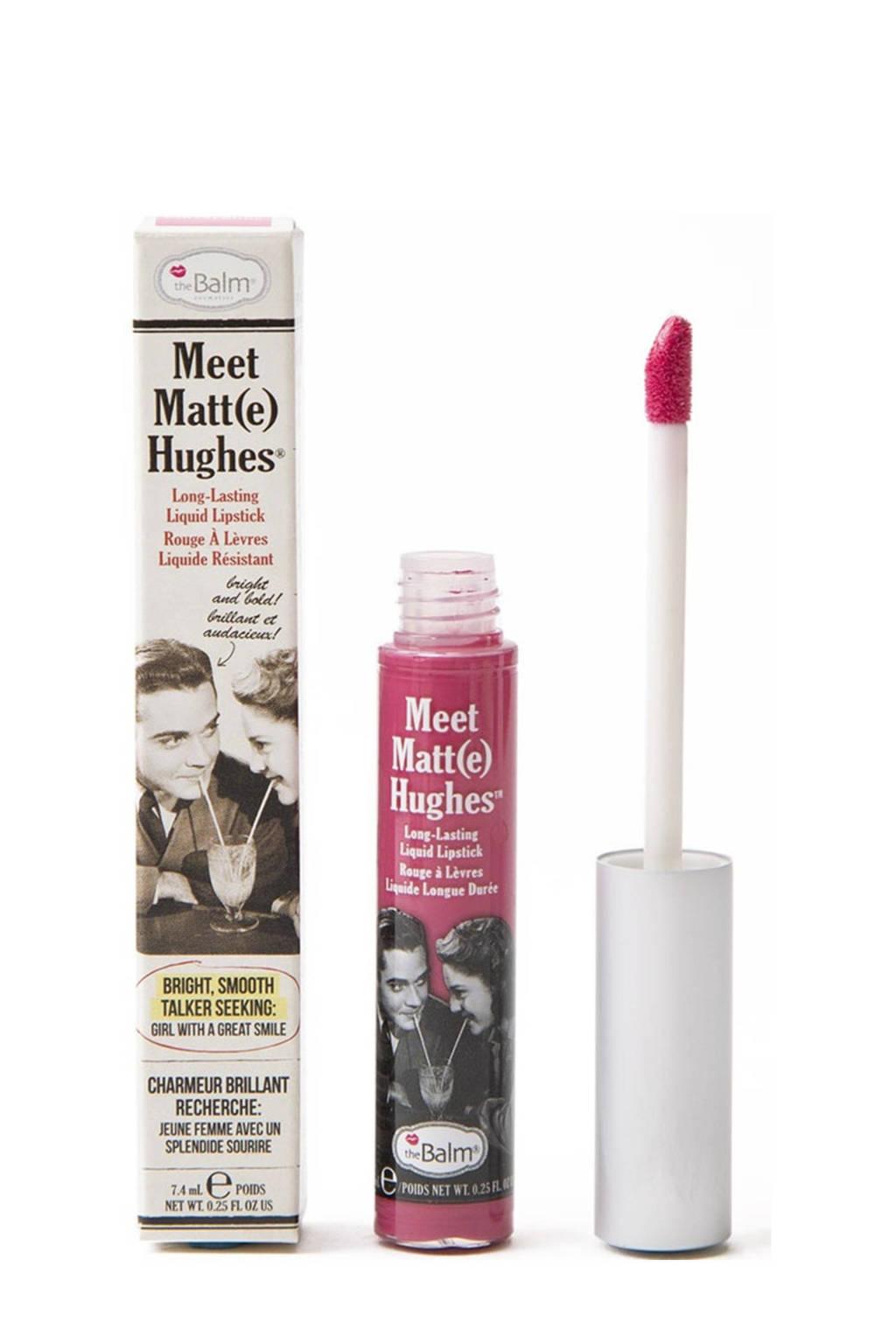 The Balm Meet Matte Hughes lippenstift - Chivalrous, Bright Pink
