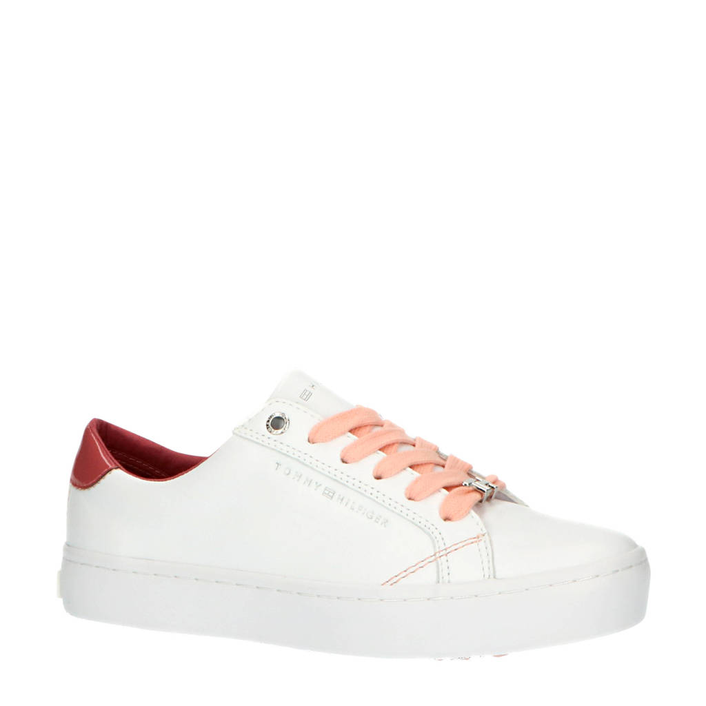 Tommy Hilfiger Casual TH  sneakers wit/roze, Wit/roze