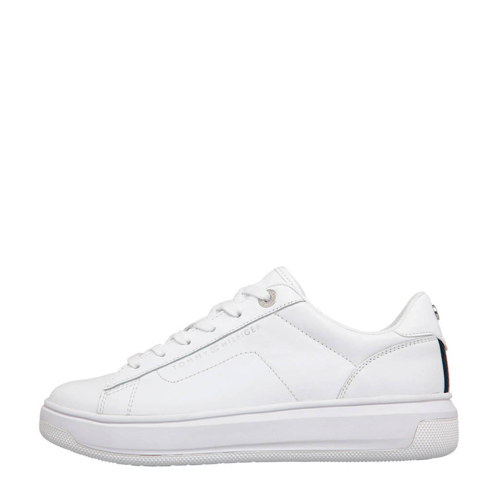 Tommy Hilfiger Leather Cupsole  sneakers wit, Wit