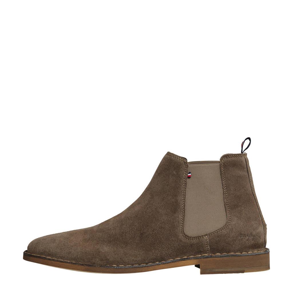 Tommy Hilfiger Dress Casual  suède chelsea boots beige, Beige