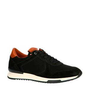 Runner Craft Mix  leren sneakers zwart/cognac