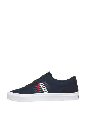 Lightweight Stripes Knit  sneakers donkerblauw